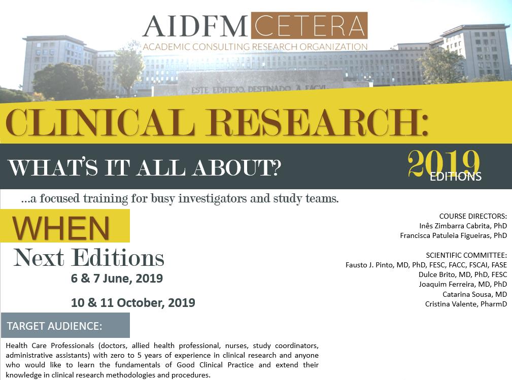 Clinical Research Short Courses | AIDFM-CETERA